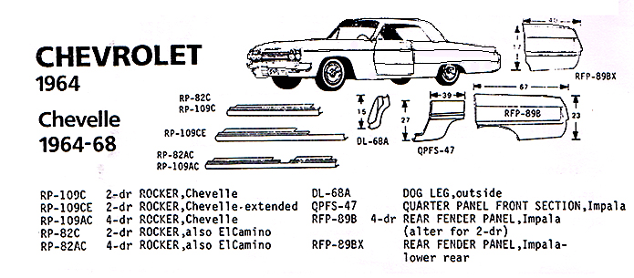 64 ford galaxie 500 parts