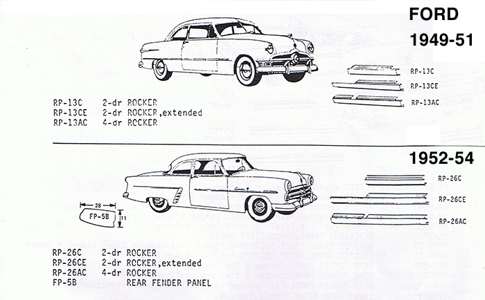 1949-1954 Ford