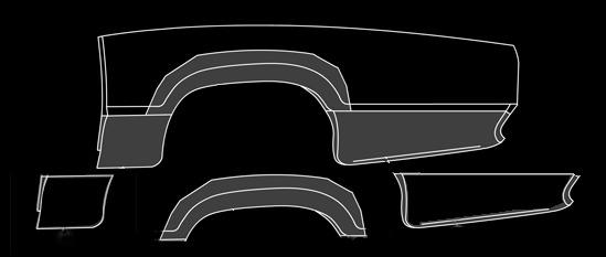 1967-71 Rear Quarters