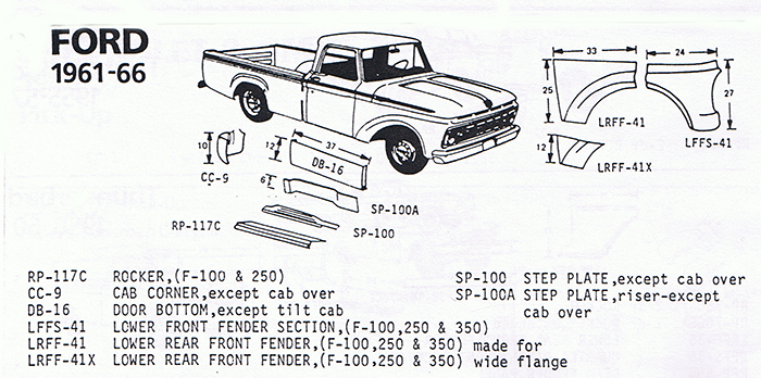 Ford Truck 61-66