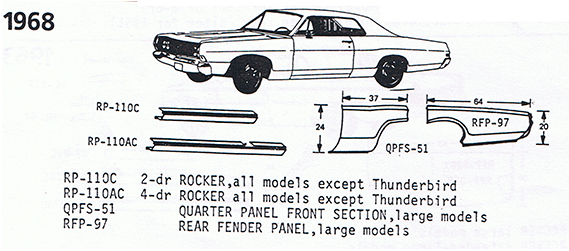 1968 Ford Exploded View