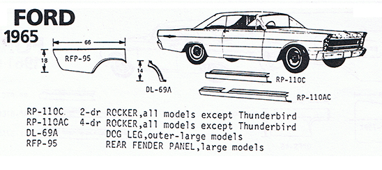65 Ford Exploded View