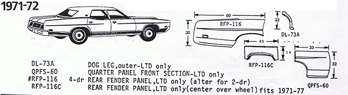 1972-72 Ford Exploded View