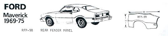 1969-75 Ford Maverick Quarter