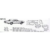 71-72 Ford Exploded View