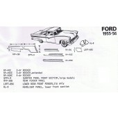 55-56 Ford Exploded view