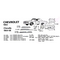 1964 Chevrolet exploded view