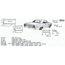 64 Galaxie exploded view