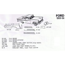 1955-56 Ford Exploded View