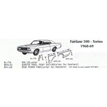 68-69 Ford Torino exp. view